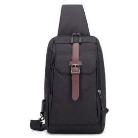 ファッションカジュアルメンズショルダーバッグは、ショルダーメッセンジャーバッグチェストバッグを充電 (Color : A)