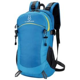 ノートパソコン用のバッグ 屋外の登山バッグショルダーバッグ男性40リットル防水ナイロンリュック観光 (色 : 青, サイズ : XL)