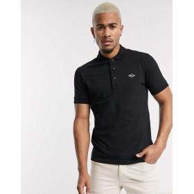 リプレイ ポロシャツ メンズ Replay stretch pique tipped polo in black [並行輸入品]