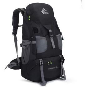 サイクリングバックパック 撥水ハイキングバックパック旅行デイパック50L耐久性のある快適で軽量のバッグ登山用キャンプ登山サイクリングトレッキング メンズランニングサイクリングバックパック (Color : Black, Size : 643219CM)
