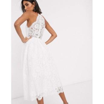 エイソス ミディドレス レディース ASOS EDITION lace halter neck midi wedding dress [並行輸入品]