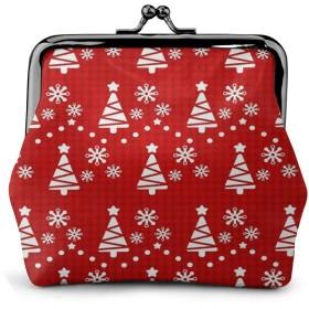 がま口 小銭入れ 財布 魔法瓶 クリスマス クリスマスツリー レディース PUレザー 親子がまぐち 小さい ミニ財布 コインケース 化粧ポーチ 収納バッグ 大容量 丸形 便利 軽量 かわいい おしゃれ 小物入れ