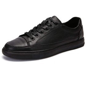 ノンスリップランニングシューズ フラットボードスケート靴レースアップマイクロファイバーレザーカジュアルアウトドアアスリートのスポーツのためのファッションメンズスニーカー (Color : White, Size : 39 EU)