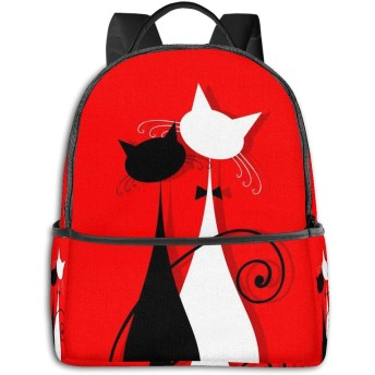 バックパック リュックサック ウェディングドレスの恋人猫 超大容量 多機能 耐衝撃 旅行 子供 男の子 女の子 男女兼用 通学 遠足 小学生 中学生 ビジネス カジュアル リュック