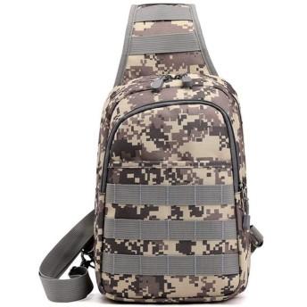 Anamony メンズチェストバッグ迷彩カジュアル多機能スポーツバックパック軽量ナイロンショルダーメッセンジャーバッグ (色 : Camouflage, Size : 403065)