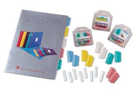 連勤 自粘式分段卡貼紙 20入/包 12包/盒 (顏色隨機出貨) LC-385