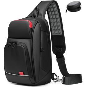 メンズ ボディバッグ 大容量 防水 ワンショルダーバッグ 斜めがけ 9.7インチiPad収納可能 USB充電ポート搭載 通勤 通学