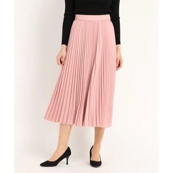 (STRAWBERRY FIELDS/ストロベリーフィールズ)Linonシャンブレー スカート/レディース ピンク