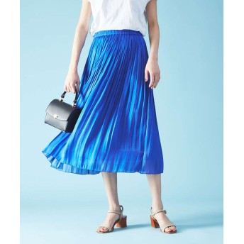 (Rouge vif la cle/ルージュヴィフラクレ)サテンギャザースカート/レディース ブルー