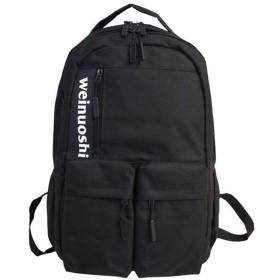 カップルファッション肩スクールバッグ、レジャーストリートユーストラベルバックパック、マルチポケット大容量リュックサックデイパック(48  11  32センチメートル) (Color : Black)