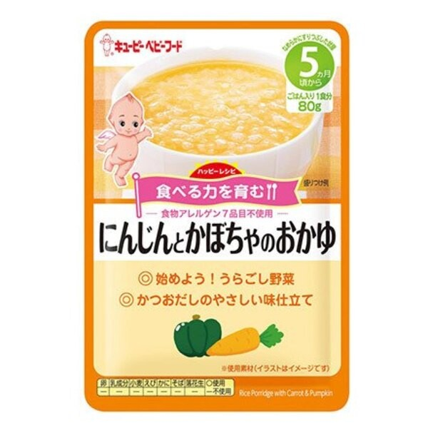 日本 kewpie   隨行包胡蘿蔔南瓜粥  (5m) * 6包