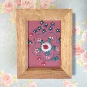 刺繍フレーム お花 インテリア雑貨 ミニフレーム