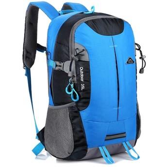 登山リュック ザック アウトドア登山バックパックトラベルバッグアウトドアスポーツバックパック 多機能 ハイキングバッグ 高通気性 登山用リュック スポーツ/アウトドア/キャンプ/旅行/遠足/通学/通勤 KKOBOLI (Color : Blue, Size : 35L)