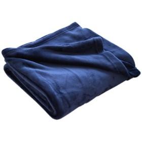 ABK0150 ネイビー 暖かい 毛布 フランネル シングルサイズ 150×210cm