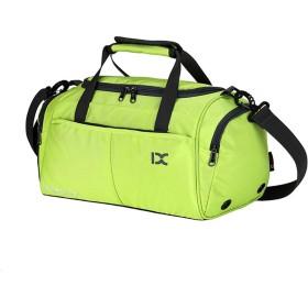 ノートパソコン用のバッグ レジャーファッションムーブメントショルダーバッグ荷物大容量ポータブルアウトドア旅行フィットネスキット (色 : 緑, サイズ : L)