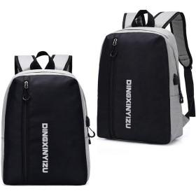 Anamony ランドセル旅行バックパック充電メンズファッションバックパックビジネスコンピュータバッグ (色 : Light gray, Size : 403057)