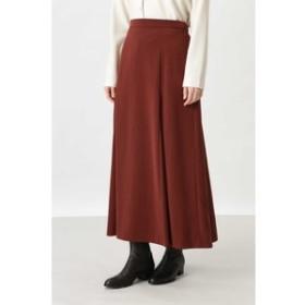 【HUMAN WOMAN:スカート】◆起毛サテンスカート