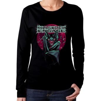 XQSMA Killswitch Engage 女性たち Fashion 長袖 T-Shirts Popular Design ブラック