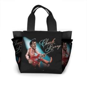 キャンバス トート ハンドバッグ チャックベリー Chuck Berry ショルダーバッグ ポケット付 大容量エコバッグ 厚手 メンズ マザーバッグ 就活 通勤 通学 旅行 プレゼント