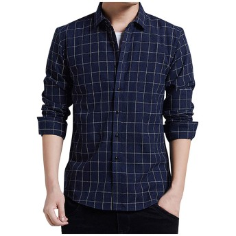 チェックシャツ メンズ, M, ネービー 461 (ギンガム ワイシャツ ギンガム シャツ ギンガム フランネルシャツ, ギンガム 半袖 ギンガム 長袖 ギンガム オーバーシャツ)