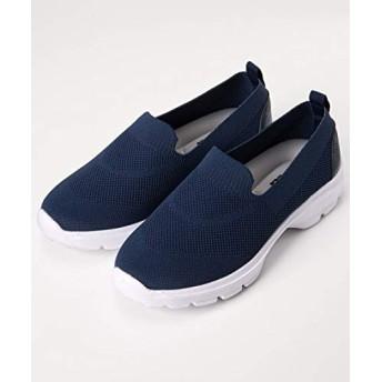 [ニッセン] 靴(シューズ) MOZ超軽量ニットスニーカー(ワイズ4E) ネイビー LL・25.0~25.5cm/4E