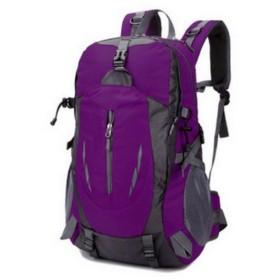 アウトドアトラベルバックパック防水ナイロンバックパック40Lマウンテントラベルバッグ (Color : Pink)