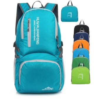 バックパック、アウトドアハイキングバックパック、防水性、耐傷性、軽量で折り畳み可能、休暇、旅行、サイクリング、登山に適しています。 (スカイブルー)