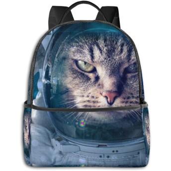 リュック スペース 猫 バックパック メンズ レディース スクールバッグ 軽量 おしゃれ 通学 大容量 旅行 プレゼント 防水 リュックサック