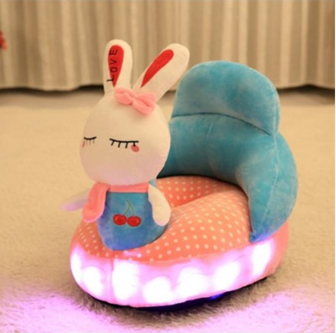 寶寶創意可愛兒童小沙發嬰布藝卡通幼兒園椅學坐懶人榻榻米可拆洗