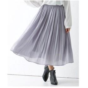 スカート ひざ丈 大きいサイズ レディース シャイニーギャザー  LL/3L ニッセン