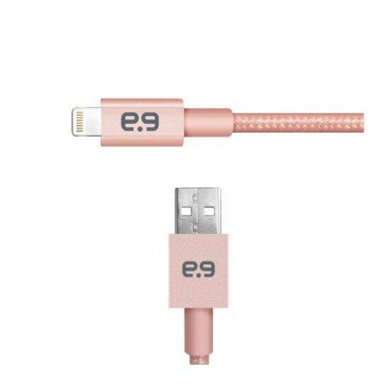PureGear普格爾 雙倍強韌系列-編織金屬充電傳輸線 FOR Apple Lightning