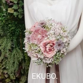 ウエディングブーケ&ブートニア ピンク芍薬ラナンミックス