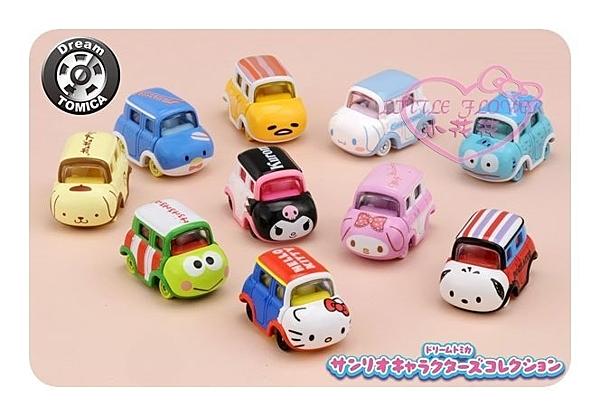 ♥小花花日本精品♥Dream Tomica Sanrio角色系列 模型車小汽車玩具車收藏擺飾10入組 11703501