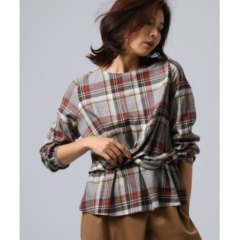 UNTITLED/FAIRY SHADE(フェアリーシェード) [L]チェック柄ひねりシャツ