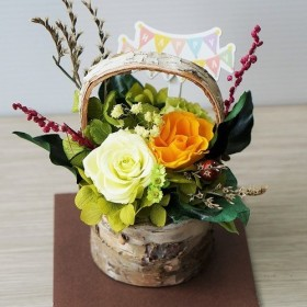 プリザーブドフラワー結婚祝い 誕生日祝い 退職祝い フラワーギフト ヘレン