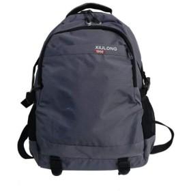 レジャー旅行バックパック、防水オックスフォード布ユニセックスリュックサックデイパック、15.6インチの学生スクールバッグノートパソコンバッグ(47  18  31センチメートル) (Color : Gray)