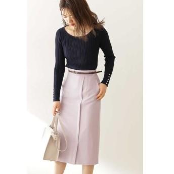 PROPORTION BODY DRESSING / プロポーションボディドレッシング  ◆ベルト付きフロントタックタイトスカート