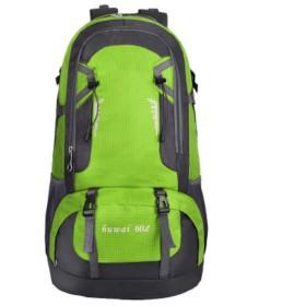 男性と女性のバックパック60Lアウトドアバッグ防水旅行スポーツバックパックを登る (Color : Green)
