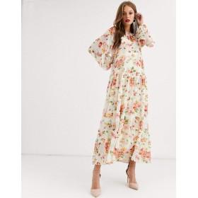 エイソス マキシドレス レディース ASOS EDITION oversized maxi dress in floral print [並行輸入品]