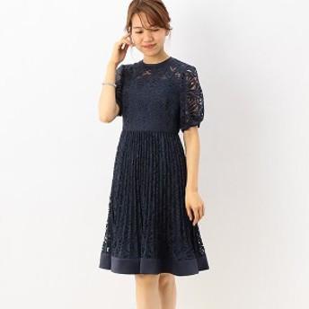 ドリードール(Dorry Doll)/オールバテンレースウエスト切替プリーツ加工スカート ワンピースドレス