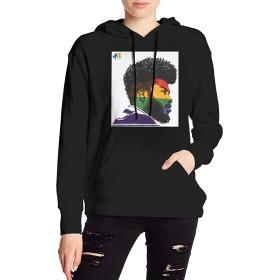XQSMA Khalid American Teen Womens Winter パーカー Design 長袖 セーター ブラック Autumn Fashion ブラック