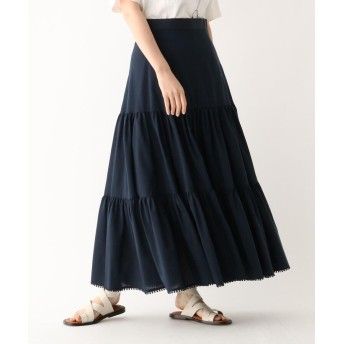 DRESSTERIOR(Ladies)(ドレステリア(レディース)) コットンシルク 切り替えフレアスカート
