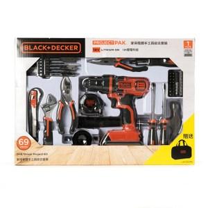 BLACK+DECKER 18V 家用電鑽手工具綜合套裝69件組 LDX120PK