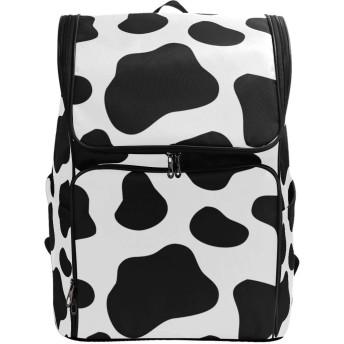マキク(MAKIKU) リュック 大容量 牛柄 リュックサック レディーズ メンズ 登山 通学 通勤 旅行 プレゼント対応