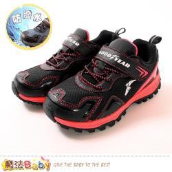 魔法Baby 中大兒童運動鞋 防潑水越野鞋~sa08602