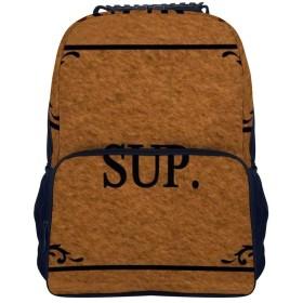 スーパースープ 学生バックパックキッズカジュアルバックパックラップトップバックパックキャンプアウトドアバックパック16インチ大容量ユニセックス