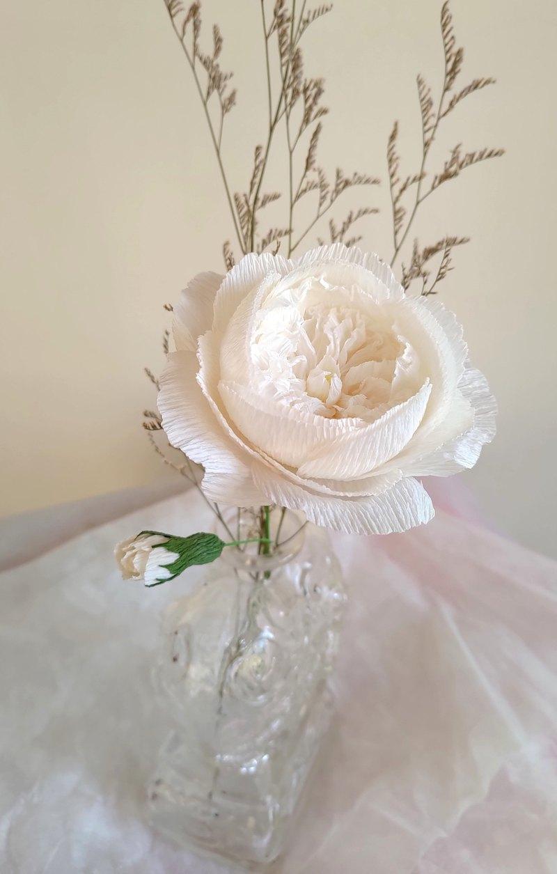 奧斯汀玫瑰 (白) 單支