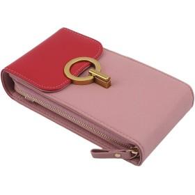 LoveAloe女性のためのショルダークロスボディバッグ小銭入れジッパー電話バッグクラッチ、赤
