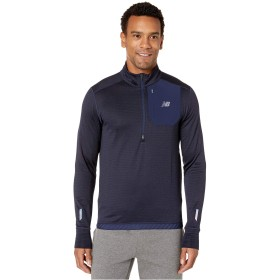 [new balance(ニューバランス)] メンズTシャツ NB Heat 1/4 Zip Pigment Heather S [並行輸入品]