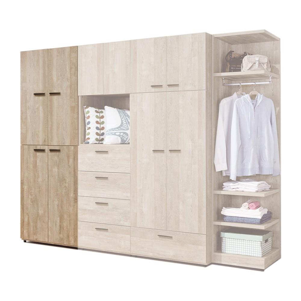 H&D 東稻家居︱里斯本2.5尺衣櫃/衣櫥/衣物收納【21HY2/B104-01】